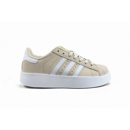 Frau Adidas Superstar Bold W Weiss Braun Gold Adidassuperstar Adidas Superstar Adidas Adidas Sneakers
