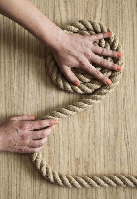 Un elegante tappeto di corda fai da te | Tappeti fai da te ...