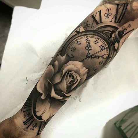 Arm tattoos uhr männer Tattoo Bilder