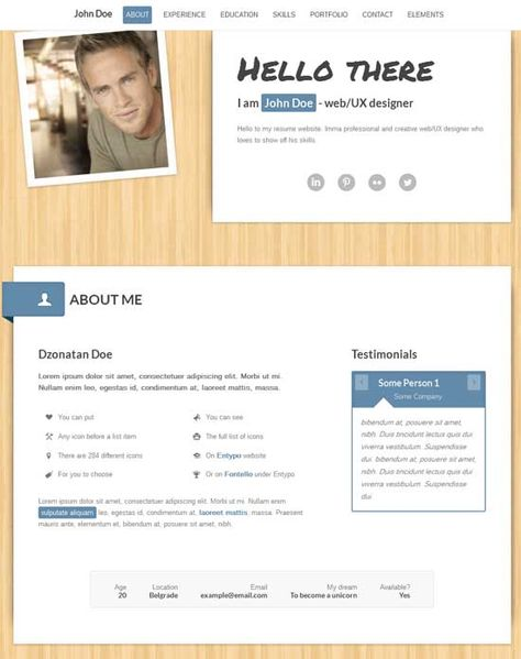 Bootstrap resume template free bootstrap resumecv template for bootstrap resume template 25 unique architect resume ideas on yelopaper Gallery