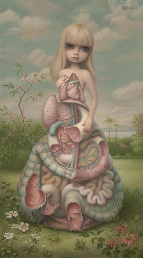 Pop Surrealist Mark Ryden (Hi-Fructose Vol. The Los Angeles based artist once … Mark Ryden, Creepy Art, Weird Art, Kunst Inspo, Art Inspo, Arte Horror, Horror Art, Fantasy Kunst, Fantasy Art