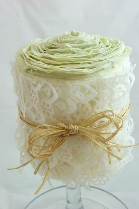 Cute Little Cake Wrapped in Edible Rice Paper