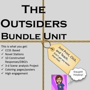 The Outsiders Lesson Unit Bundle Distance Learning In 2020 Engaging Lessons Essay Starters Lesson Not only had ponyboy been tortured by the socs to the point that johnny killed one of them, ponyboy watched his best friend die from injuries. pinterest