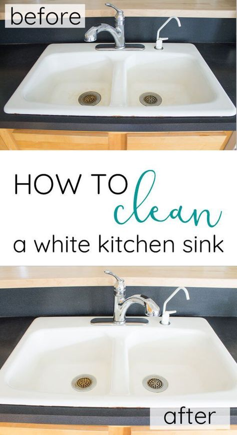 The Best Way To Clean A White Porcelain Or Stainless Sink