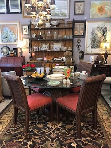 Tommy Bahama Dining Set Bakers Rack Traditional Southern Style
