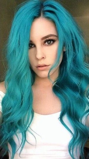 15 Perfect Turquoise Hair Color Ideas For Your Distinctive Style The Shading Turquoise Is Frequently Unnatural Hair Color Turquoise Hair Color Turquoise Hair