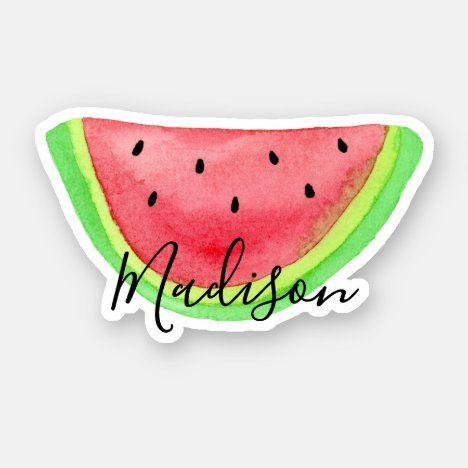 Laptop Car Water Bottle Sticker Watermelon Sticker Watermelon Vinyl Decal