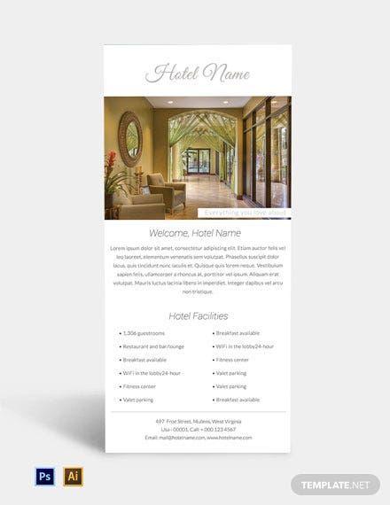 Free Luxury Hotel Rack Card Template Psd Illustrator Rack Card Templates Business Card Template Design Rack Card
