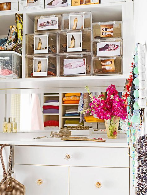 Creating places for everything and returning things to those proper places will make dressing easier! http://www.bhg.com/decorating/closets/walk-in/walk-in-closet-design-ideas/?socsrc=bhgpin021415organizeaccessories&