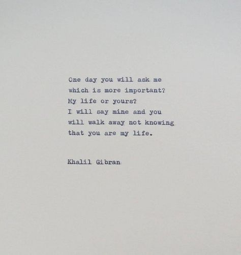 Khalil Gibran Quote typed onto 6x6 cream colored card stock