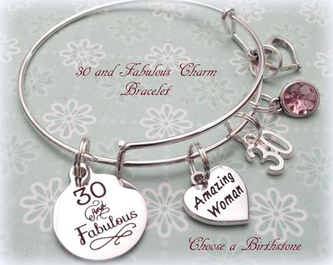 30th Birthday Gift 30 And Fabulous Charm By HopeisHipJewelry