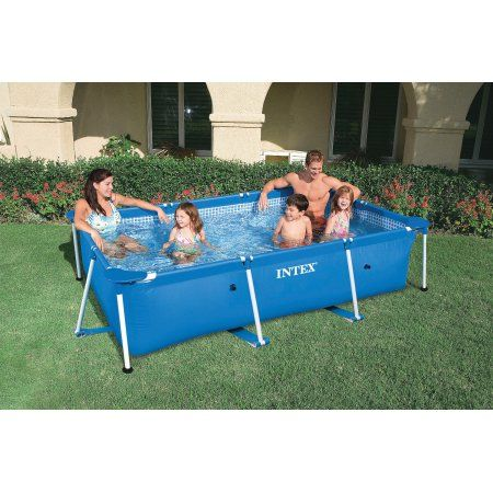 Intex 28270e 86 X 59 X 23 Rectangular Above Ground Baby Splash Swimming Pool Walmart Com Splash Swimming Pool Intex Rectangular Swimming Pools