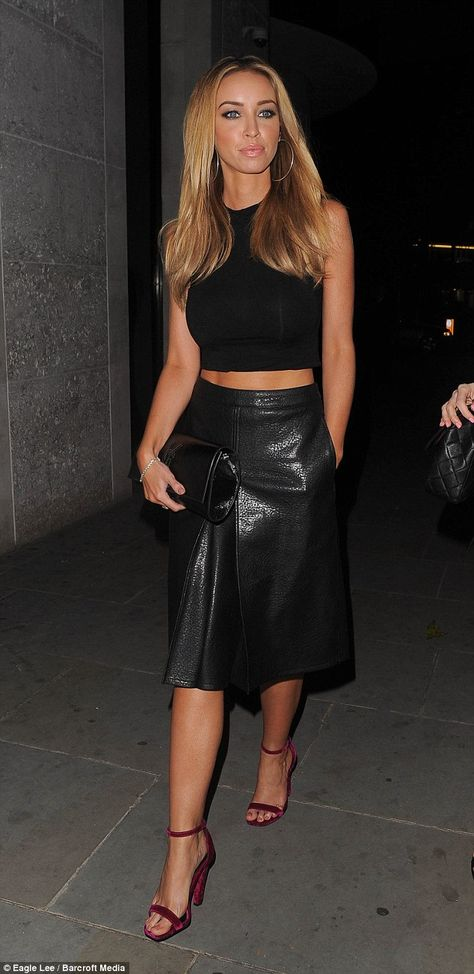 TOWIE stars Lauren Pope and Chloe Sims step out in matching monochrome