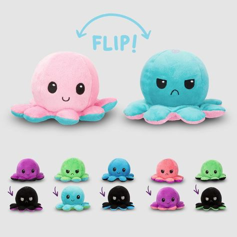 Reversible Octopus Mini (Wave 2) Plushie | Funny, cute & nerdy plushies – TeeTurtle