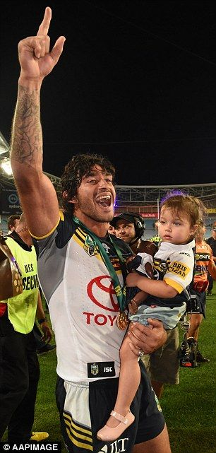 #RugbyLeague Jonathan Thurston with NRL GRAND FINAL trophy. http://www.gesportstours.com/the-nrl-grand-final/ | nrl grand finals | Pinterest