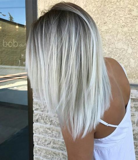 2018 White Hairstyles 2018 White Hairstyles 2020 Orta Uzunlukta