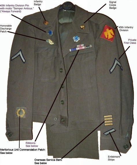 U S Army Uniform Priviate 1st Class  Conrad- Ed Sullivan show