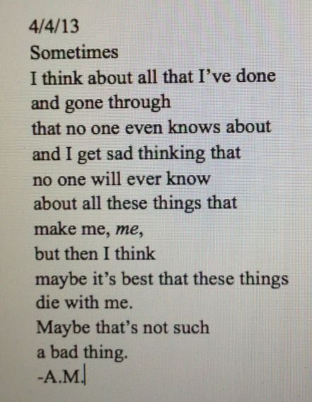 Depression Poems by Teenagers   ... depression sad suicidal suicide lonely alone writing secrets poem