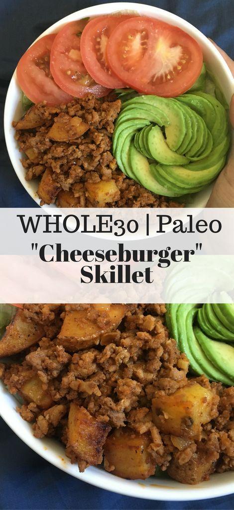 """Whole30 """"Cheeseburger"""" Skillet"""