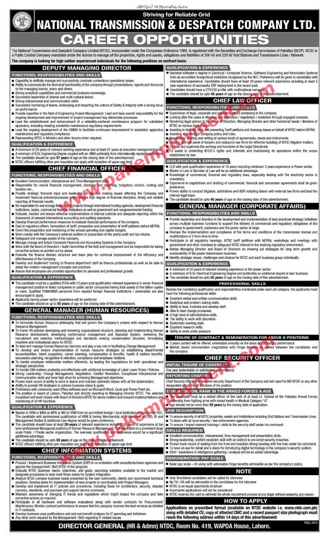 Pakistan Employment National Transmission and Despatch Company - g4s security officer sample resume