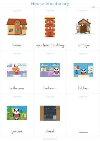 Partes De Una Casa Partes De La Casa Casa En Ingles Mesas De