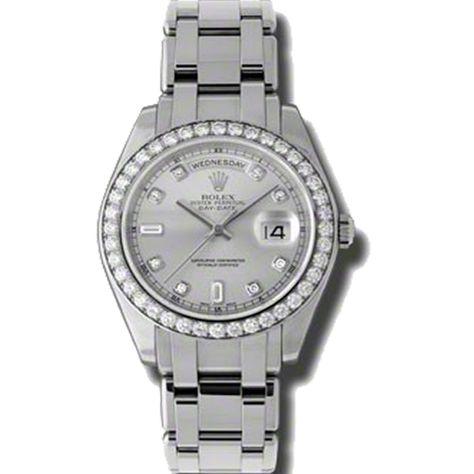 Women watches: Rolex Day-Date Masterpiece Ice Blue Automatic Platinum Pearl Master Ladies Watch