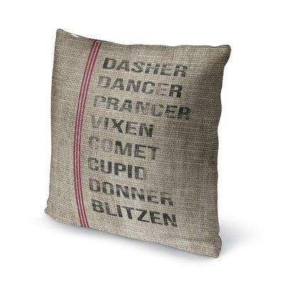 Red, Black & Beige Outdoor Throw Pillow