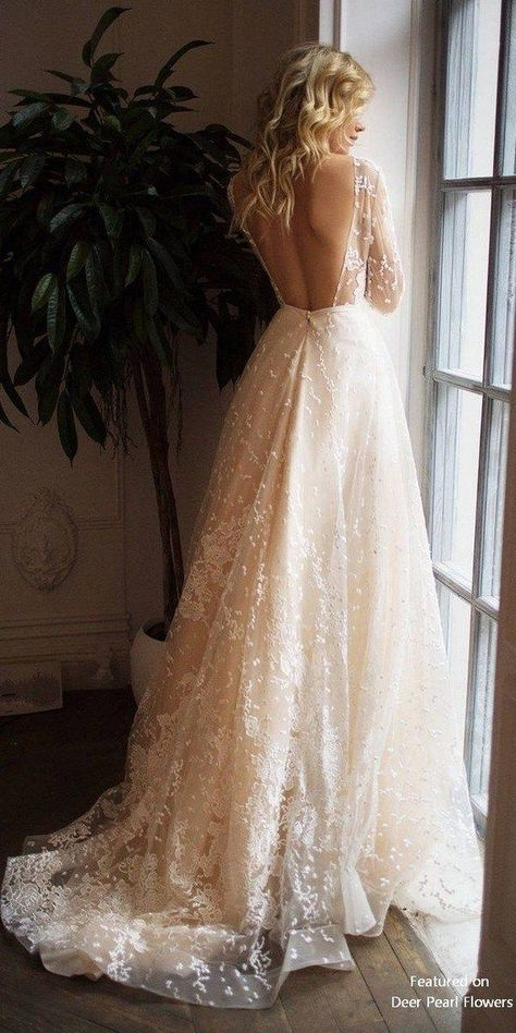 Muse long sleeve wedding dress with open back dress sleeve de novia de novia boho de novia cortos Ruched Wedding Dress, Top Wedding Dresses, Wedding Dress Trends, Wedding Dress Sleeves, Bridal Dresses, Wedding Ideas, Gown Wedding, Trendy Wedding, Wedding Dress Types