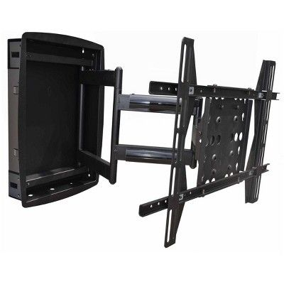 Monoprice Recessed Full Motion Articulating Tv Wall Mount Bracket For Tvs 42in To 63in Max Weight 200lbs Vesa Patterns Up To 800x500 Tv Wall Mount Bracket Wall Mount Bracket Wall Mounted