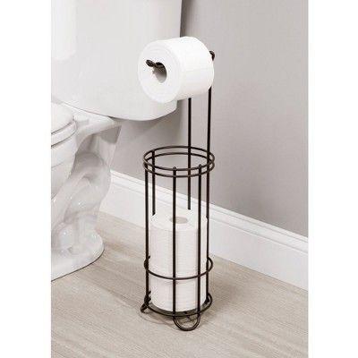 Reserve Plus 4 Roll Freestanding Toilet Tissue Holder Bronze Threshold In 2020 Bathroom Tissue Holder Toilet Paper Holder Tissue Holders