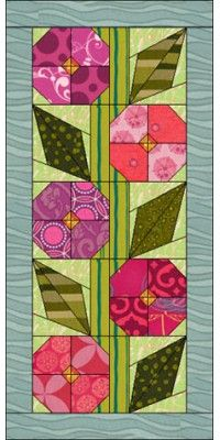 Free Flower Quilt Pattern for Eq7 EQ6 or Quilt Design Wizard Looks like a hollyhock- I'd like to try it!