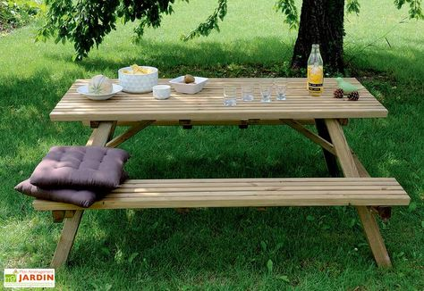 Table de Pique Nique 170 cm Bois Autoclave FSC | Bois ...