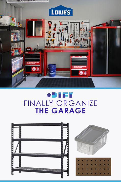 Shop shelving, containers and bins to help tackle your garage organization at Lowe's.