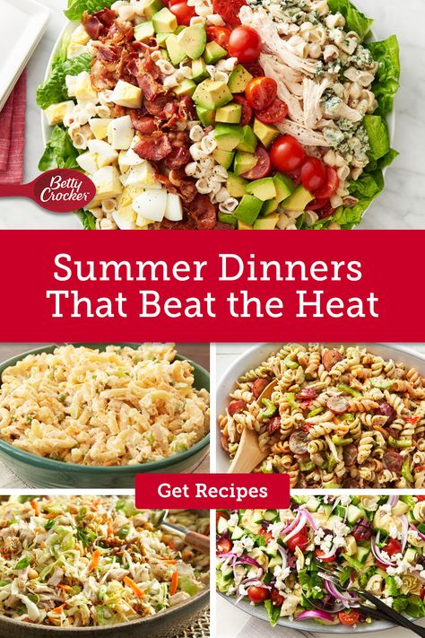 For Summer Dinners That Beat the Heat don't miss these refreshing dinner ideas. Pin today for recipes to keep cool with.