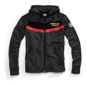 100 Percent Mens Textile Casual Motorcycle Honda Geico Riding Zipper Jacket