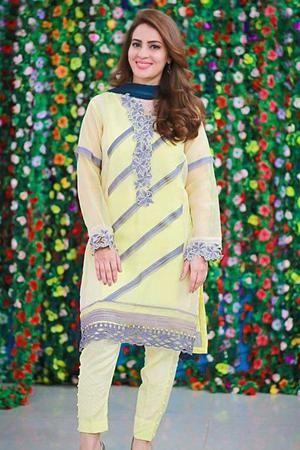 Maria B Inspired  Pakistani INDIAN Embroidery Rayon Kurta Shirt Khaadi Barooque