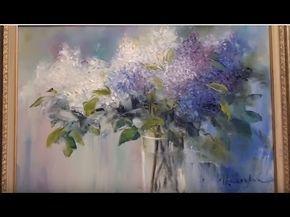 Peindre Fleurs Peindre Bouquet De Lilas Cours De Peinture A L