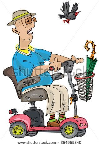 Seniors On Scooters Clipart Mobility Scooter Clipart 57