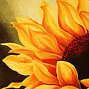 Cropped Sunflower Poster