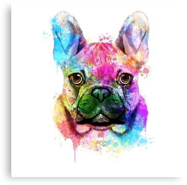 French Bulldog Art Watercolor Print Francais Dog Art Dog Painting Dog Print Gift