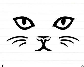 Cat Svg Cat Face Svg Kitty Svg Print Cat Cat Head Smiling Cat Face Kitty Baby Cat Cat Face Png Printable Face Svg Cute Svg Cara De Gato Cara De Unicornio