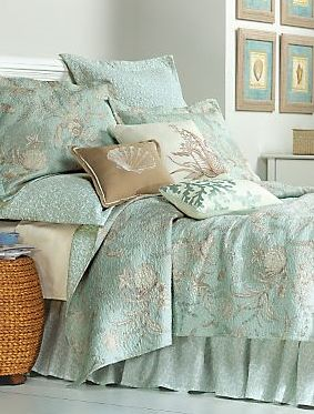 seashell bedding a true decorating storyguest bedroom pinterest bedrooms and house