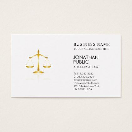 Attorney At Law Office Lawyer Justice Logo Luxury Business Card