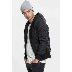 #braun #Daunenjacke #Herno #HernoHerno #Herren Urban Classics Herren Leichte Jacke Übergang Hooded Big Diamond Quilt Jackettb147 blk/red Contrast 3