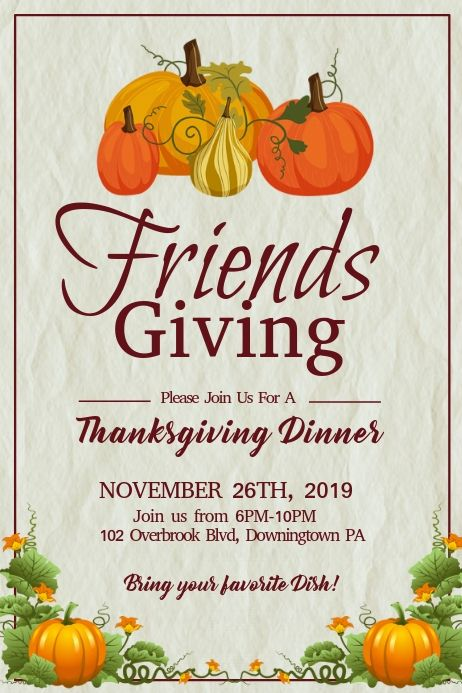 Thanksgiving In 2020 Fall Design Poster Template Welcome Poster
