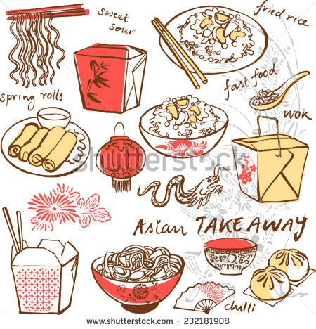 50+ Chinese food restaurant clipart ideas
