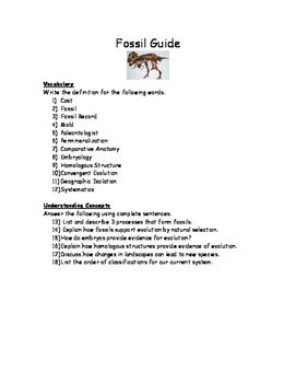Fossil Study Guide Worksheet Study Guide Ngss Science Worksheets