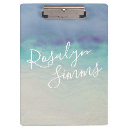 Painted Ocean Clipboard Zazzle Com Acrylic Prints Ocean Custom Clipboards