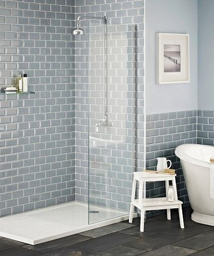 Home Interior Farmhouse In 2020 Grey Bathroom Tiles Loft Bathroom Blue Bathroom