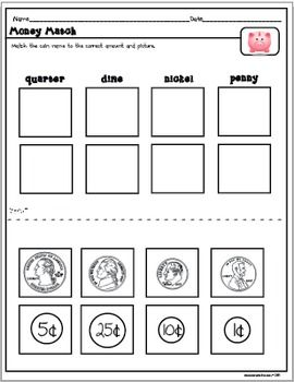 Help students learn the basics of money by matching and identifying coins....
